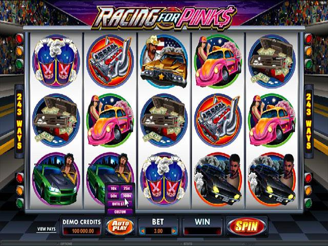 Racing for Pinks Microgaming spelautomater screenshot