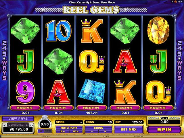Reel Gems Microgaming spelautomater screenshot