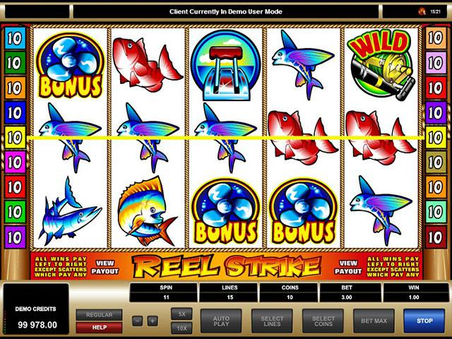 Reel Strike Microgaming spelautomater screenshot