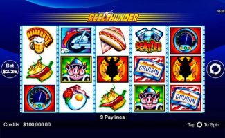 Reel Thunder Microgaming spelautomater screenshot