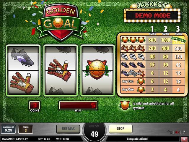 Spelautomater Golden Goals PlaynGo SS - wyrmspel.com