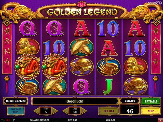 Spelautomater Golden Legend PlaynGo SS - wyrmspel.com