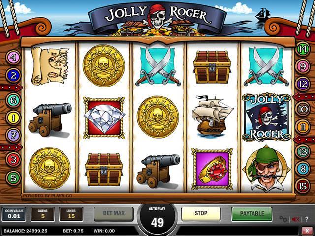 Spelautomater Jolly Roger PlaynGo SS - wyrmspel.com