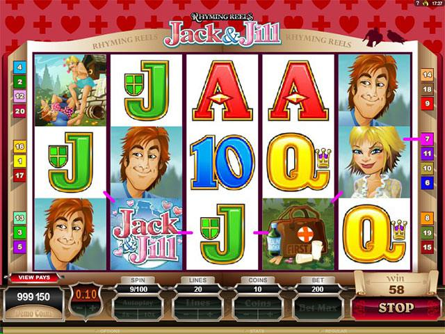 Spelautomater Rhyming Reels - Jack and Jill Microgaming SS - wyrmspel.com