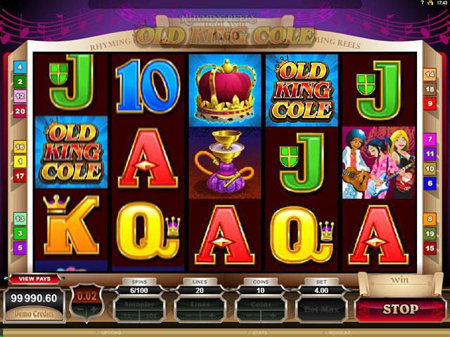 Spelautomater Rhyming Reels – Old King Cole Microgaming SS - wyrmspel.com