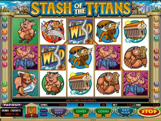 Spelautomater Stash Of The Titans Microgaming SS - wyrmspel.com