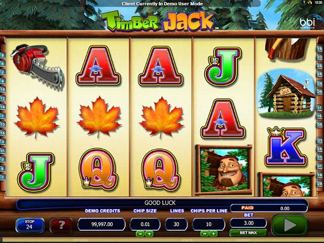 Spelautomater Timber Jack Microgaming SS - wyrmspel.com