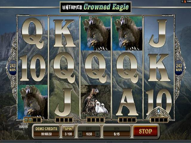 Spelautomater Untamed Crowned Eagle Microgaming SS - wyrmspel.com