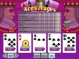 Videopoker Aces and Faces, Rival Gaming SS - Wyrmspel.com