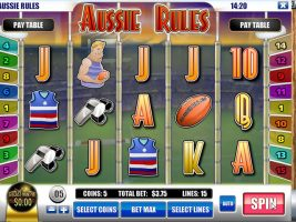 Spelautomater Aussie Rules, Rival Gaming SS - Wyrmspel.com