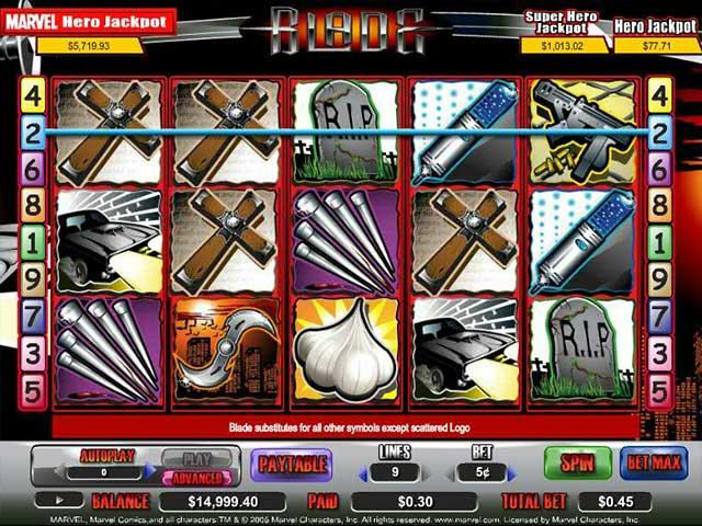 Spelautomater Blade, Cryptologic SS - Wyrmspel.com