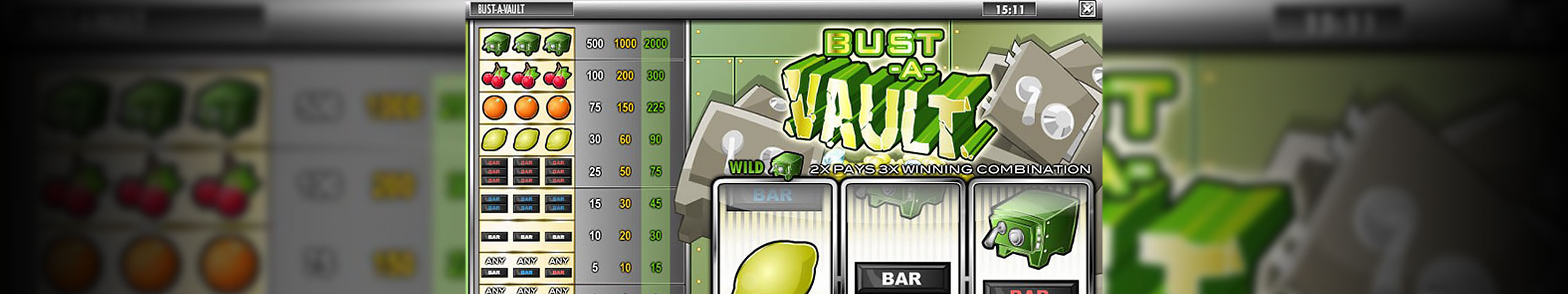 Spelautomater Bust-A-Vault, Rival Slider - Wyrmspel.com