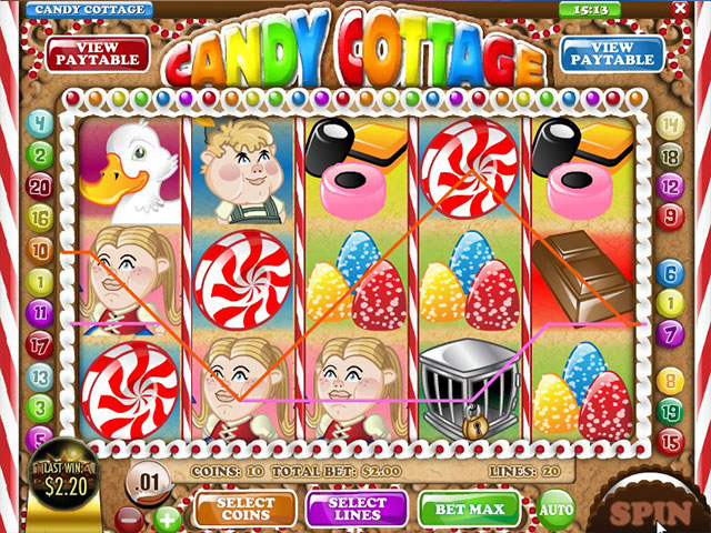 Spelautomater Candy Cottage, Rival Gaming SS - Wyrmspel.com