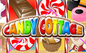 Candy Cottage spelautomater Rival  wyrmspel.com