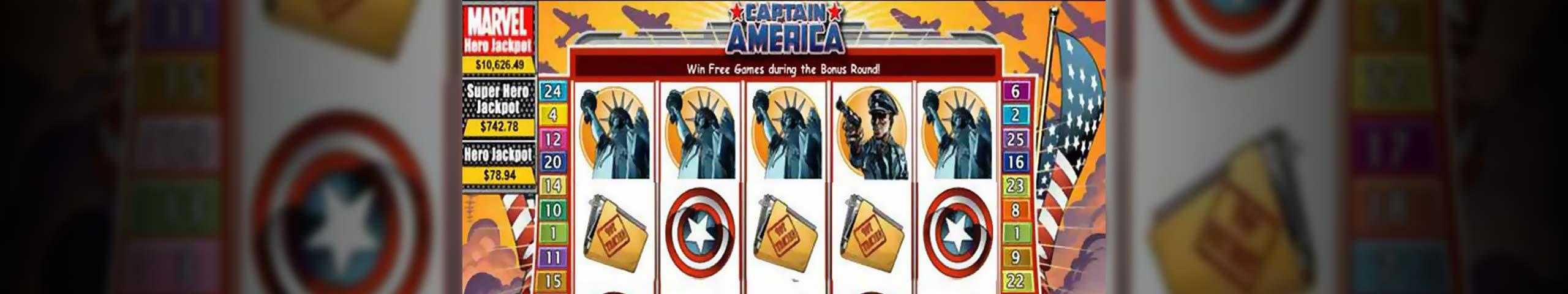 Spelautomater Captain America, Cryptologic Slider - Wyrmspel.com