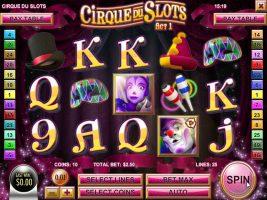 Spelautomater Cirque du Slots, Rival Gaming SS - Wyrmspel.com