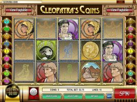 Spelautomater Cleopatra's Coins, Rival Gaming SS - Wyrmspel.com