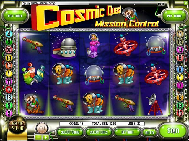 Spelautomater Cosmic Quest: Mission Control, Rival Gaming SS - Wyrmspel.com