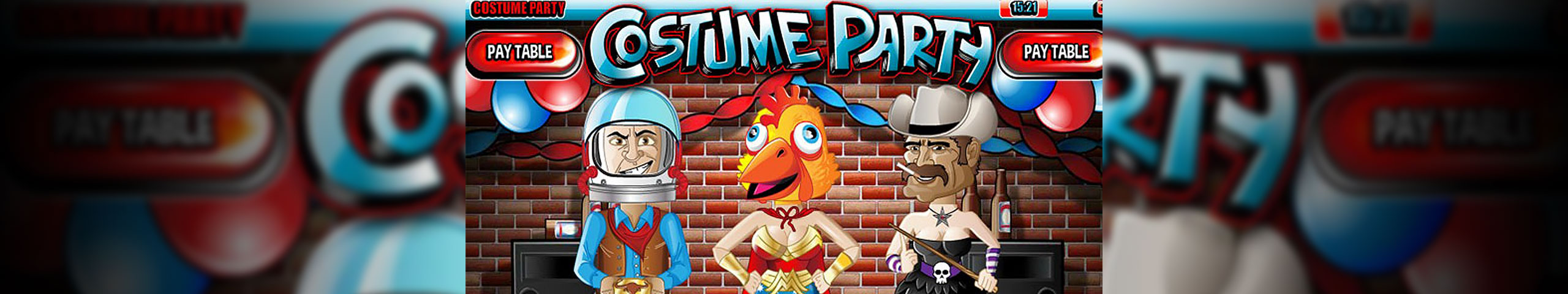 Spelautomater Costume Party, Rival Slider - Wyrmspel.com