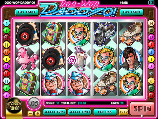 Spelautomater Doo Wop Daddy-O, Rival Gaming SS - Wyrmspel.com