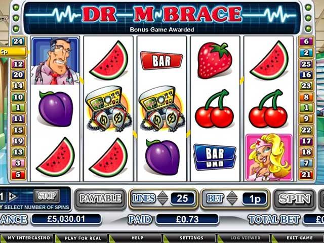 Spelautomater Dr. M. Brace, Cryptologic SS - Wyrmspel.com