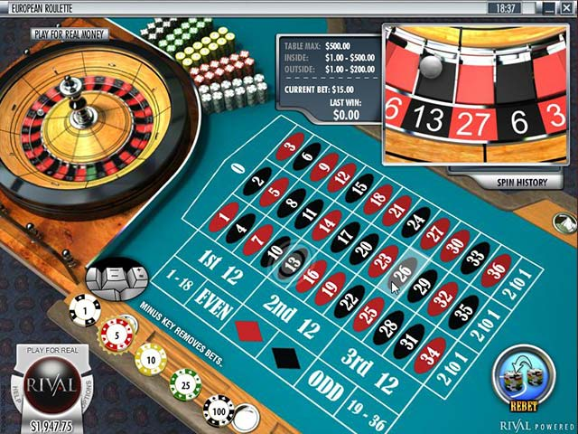 European Roulette, Rival Gaming SS - Wyrmspel.com