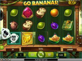 Spelautomater Go Bananas!, NetEnt SS - Wyrmspel.com