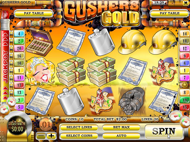 Spelautomater Gusher's Gold, Rival Gaming SS - Wyrmspel.com