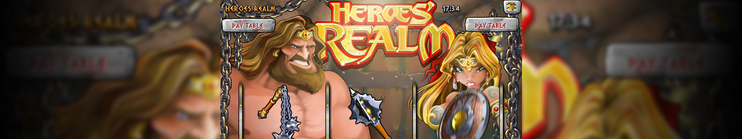 Spelautomater Heroes Realm, Rival Gaming Slider - Wyrmspel.com