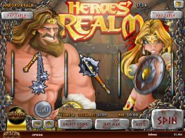 Spelautomater Heroes Realm, Rival Gaming SS - Wyrmspel.com