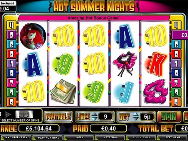 Spelautomater Hot Summer Nights, Cryptologic SS - Wyrmspel.com