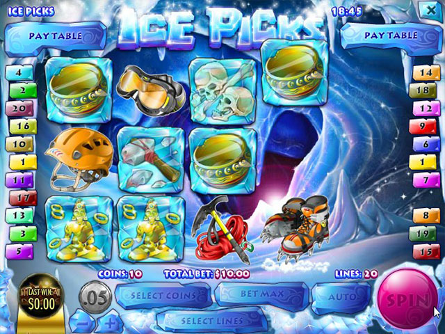Spelautomater Ice Picks, Rival Gaming SS - Wyrmspel.com
