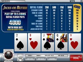 Videopoker Jacks or Better, Rival Gaming Slider - Wyrmspel.com