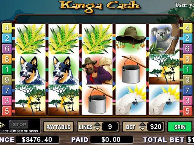 Spelautomater Kanga Cash, Cryptologic SS - Wyrmspel.com