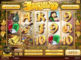 Spelautomater Leonardo's Loot, Rival Gaming SS - Wyrmspel.com