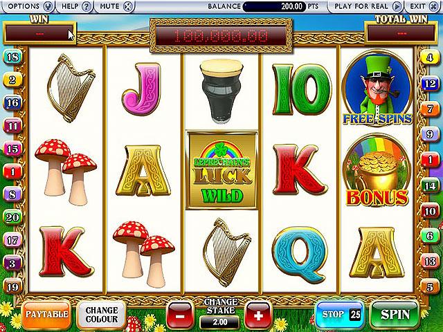 Spelautomater Leprechauns Luck, NetEnt SS - Wyrmspel.com