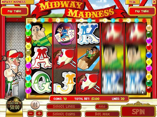 Spelautomater Midway Madness, Rival Gaming SS - Wyrmspel.com