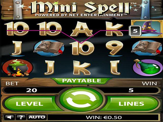 Spelautomater Mini Spell, NetEnt SS - Wyrmspel.com