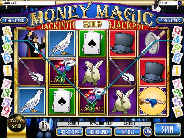 Spelautomater Money Magic, Rival Gaming SS - Wyrmspel.com