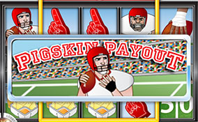 Pigskin Payout spelautomater Rival  wyrmspel.com