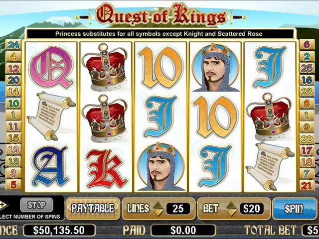 Spelautomater Quest of Kings, Cryptologic SS - Wyrmspel.com
