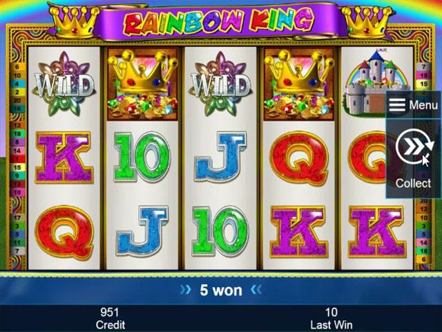 Rainbow King slot online - Spela Novomatic spelet gratis