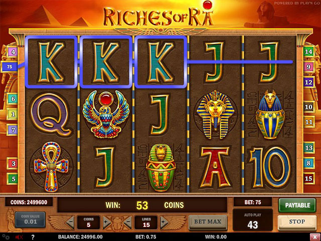 Spelautomater Riches of Ra, Play'n GO SS - Wyrmspel.com