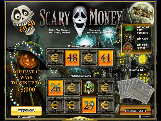 Spelautomater Scary Money, Yggdrasil Gaming SS - Wyrmspel.com