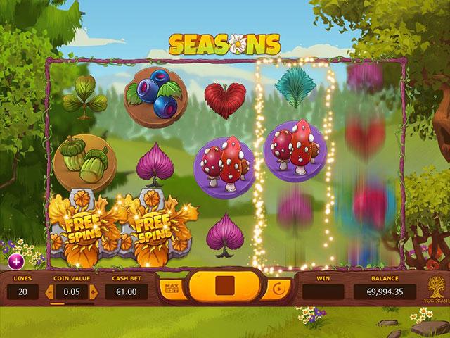 Spelautomater Seasons, Yggdrasil Gaming SS - Wyrmspel.com
