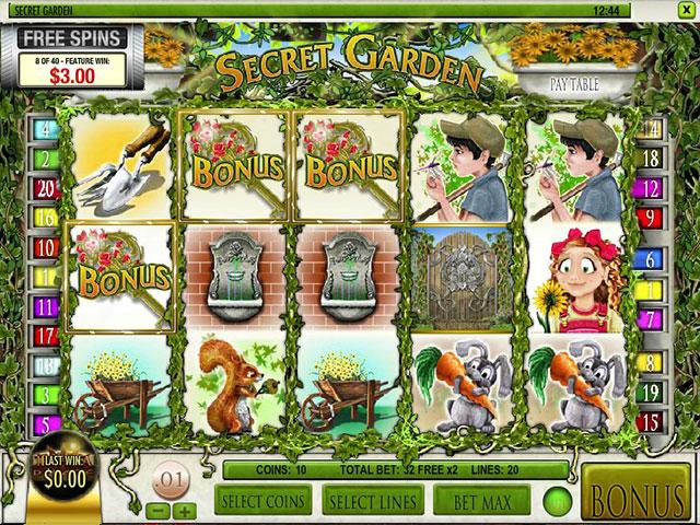 Spelautomater Secret Garden, Rival Gaming SS - Wyrmspel.com
