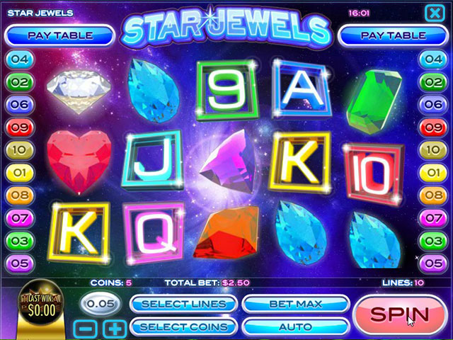 Spelautomater Star Jewels, Rival Gaming SS - Wyrmspel.com