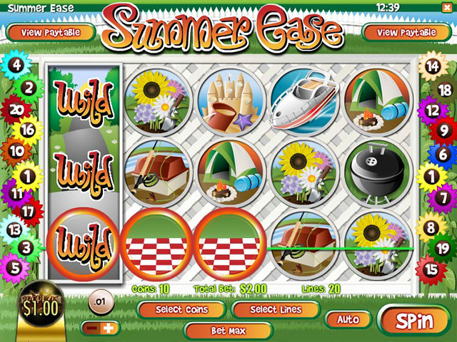 Spelautomater Summer Ease, Rival Gaming SS - Wyrmspel.com