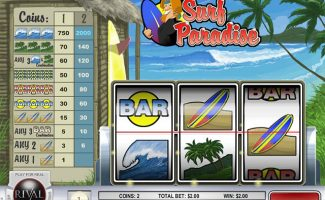Spelautomater Surf Paradise, Rival Gaming SS - Wyrmspel.com