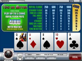 Videopoker Tens Or Better, Rival Gaming SS - Wyrmspel.com